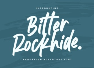 Bitter Rockhide Font