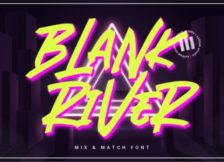 Blank River Font