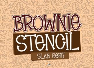 Brownie Stencil Font