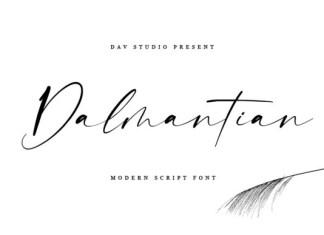 Dalmantian Font