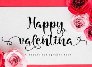 Happy Valentina Font