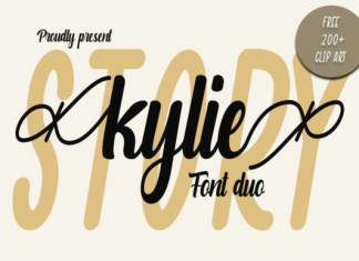 Kylie Story Duo Font