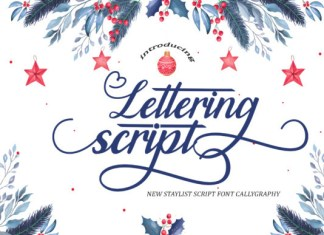 Lettering Script Font