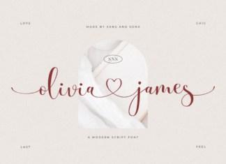 Olivia James Font