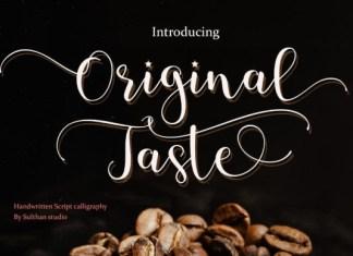 Original Taste Font