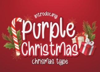 Purple Christmas Font