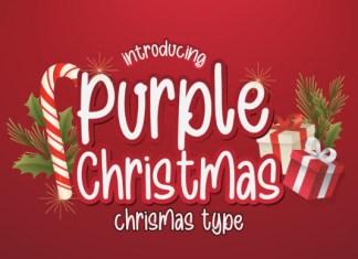 Purple Christmas Font