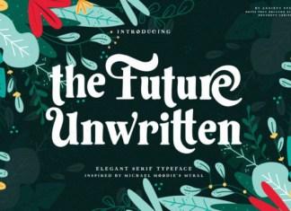 The Future Unwritten Font