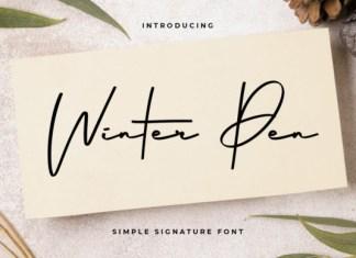 Winter Pen Font