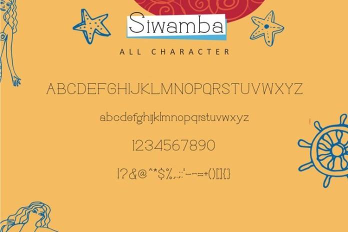 Siwamba Font