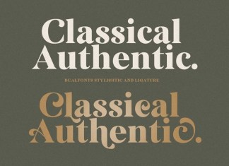 Classical Authentic Font