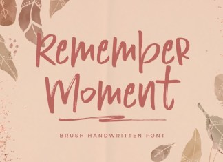 Remember Moment Font