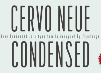 Cervo Neue Condensed  Font