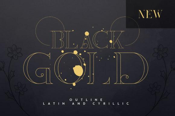 Black Gold Font