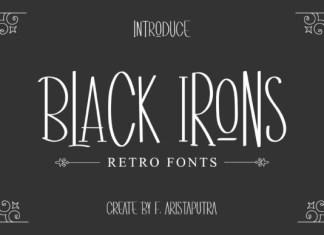 Black Irons Font