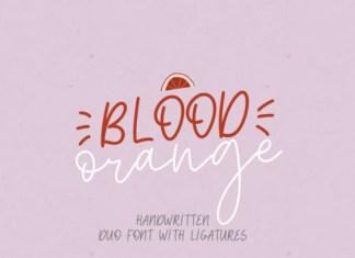 Blood Orange Duo Font