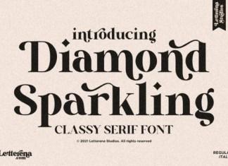 Diamond Sparkling Font