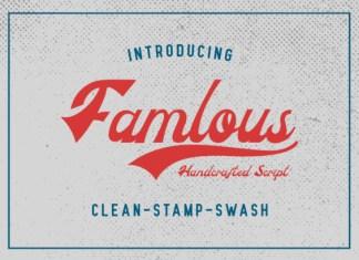 Famlous Font