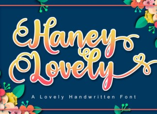 Haney Lovely Font