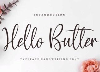 Hello Butter Font