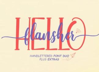 Hello Flansher Font