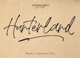 Hunterland Font