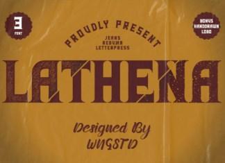 Lathena Font