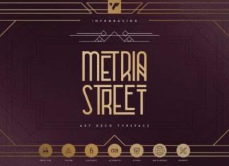 Metria Street Font