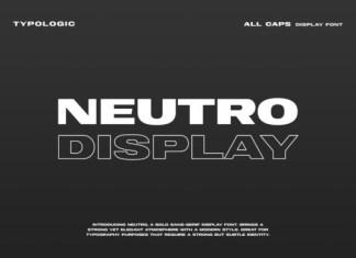 Nuetro Display Font