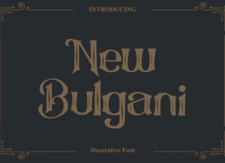 New Bulgani Font