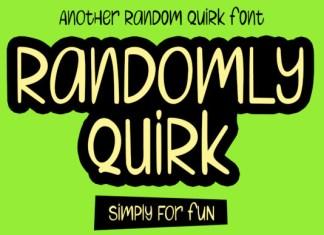 Randomly Quirk Font