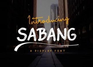Sabang Font