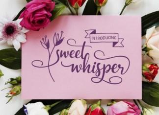 Sweet Whisper Font