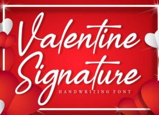Valentine Signature Font