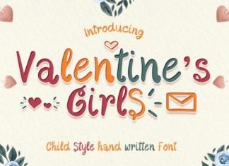 Valentine's Girls Font