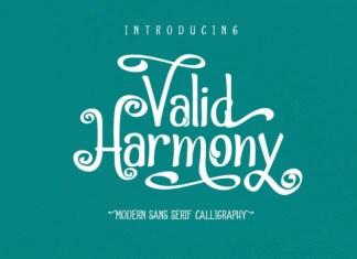 Valid Harmony Font