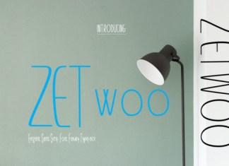 ZETwoo Font
