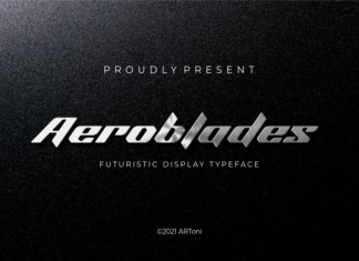 Aeroblades Font