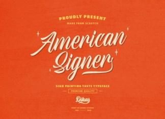 American Signer Font