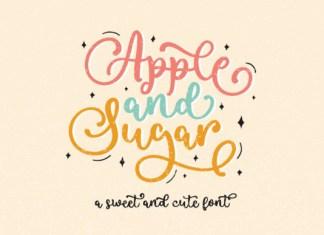 Apple and Sugar Font