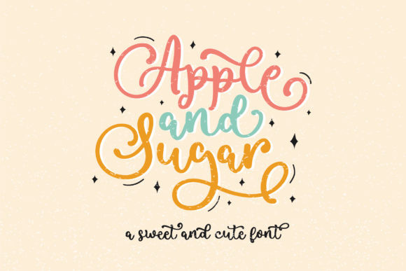 Apple and Sugar Font