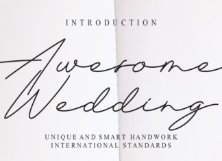 Awesome Wedding Font
