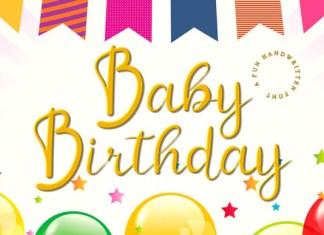 Baby Birthday Font