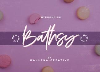 Bathsy Font