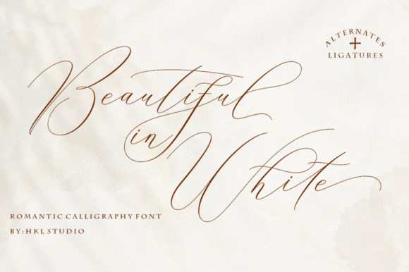 Beautiful in White Font