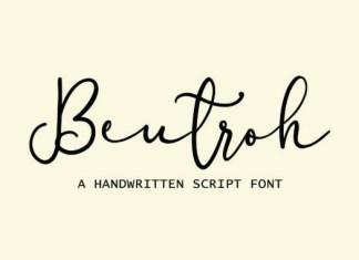 Beutroh Font