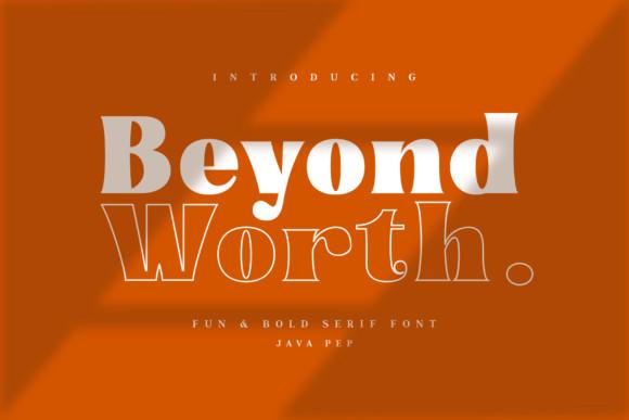 Beyond Worth Font