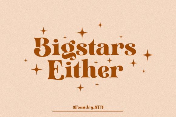Bigstars Either Font