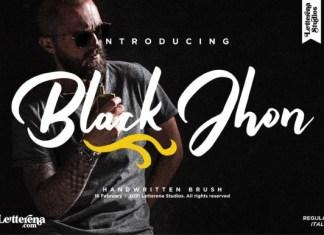 Black Jhon Font