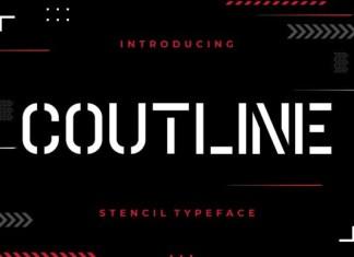 Coutline Font